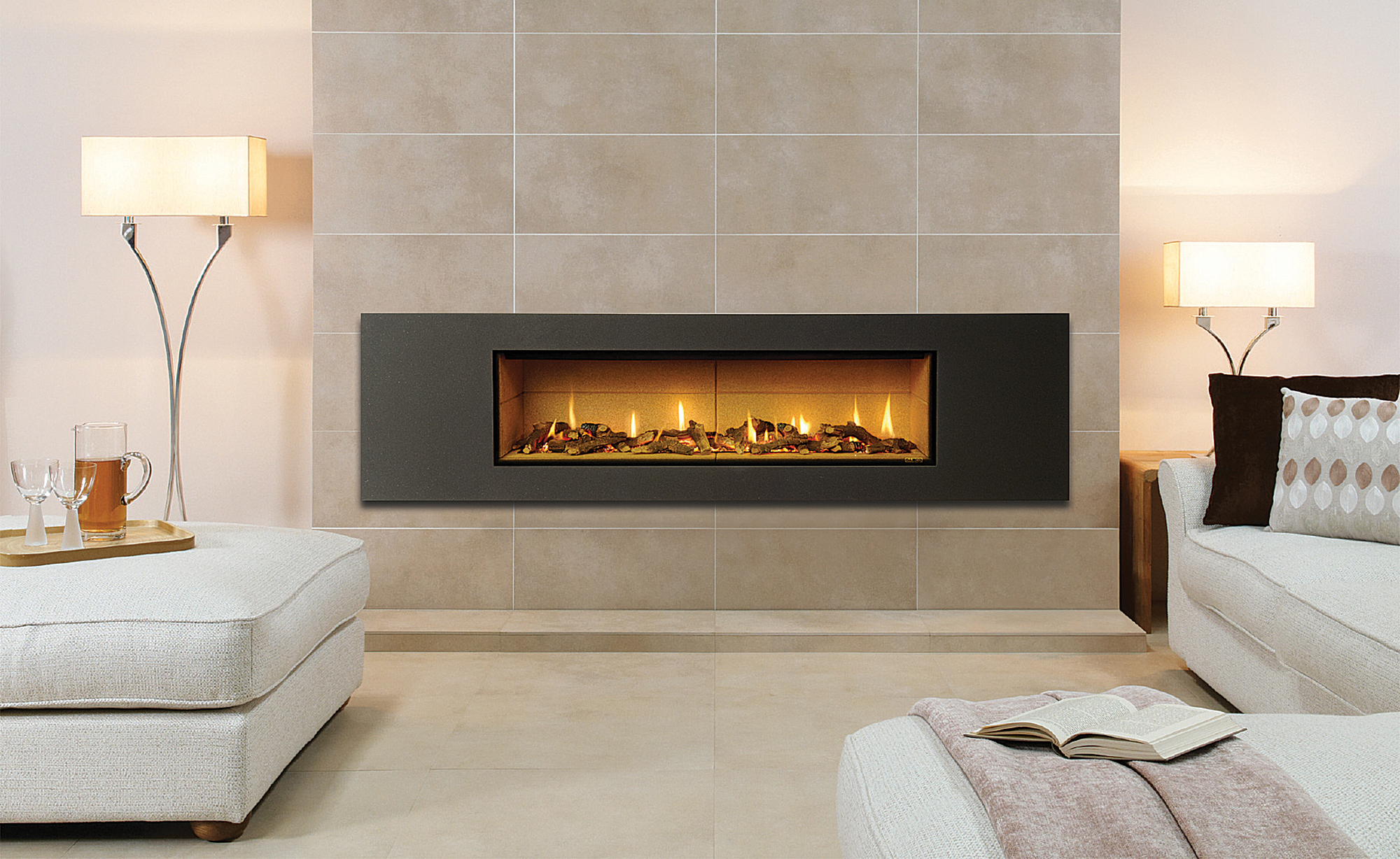 gazco studio balanced flue gas fire the fireplace archipro